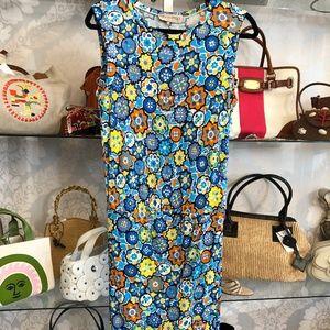 EMILIO PUCCI Multi Color Floral Print Dress